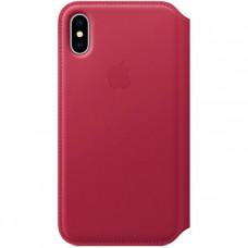 Чехол для iPhone Apple iPhone X Leather Folio Berry